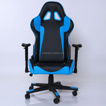 2016 hot sell BLU&BLK PU leather Gaming Office Chair