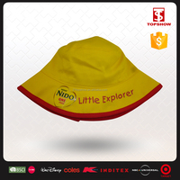 High quality 100% cotton blank cheap kids bucket hats with string