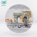 Happy party products supplies custom chinese enamel round plate