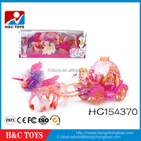 Hot item girls toys plastic toy horse carriage for sale HC154370