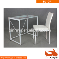 Modern computer desk/study table with new painting glass for office furniture