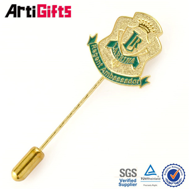 Promotion cheap abs name badge with pin