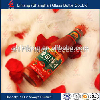 empty glass bottle flip top 250ml Round Glass Sauce Bottles - Dressing, Oil, Relishes, Ketchup - 43mm lids
