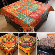 Colorful Cloth Shop Counter Table Design Fabric Painting Wedding Table Cloth