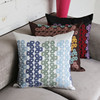 New arrival simple washable home textile cotton geometry handmade embroidery cushion cover wholesale A139
