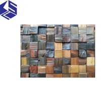 Weathered old boat wooden mosaic design restaurant interior wall panels Separated wall panel