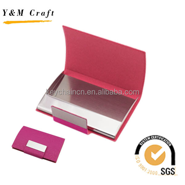 2017 Free sample High Quality Custom Leather metal plastic credit id business name card holder