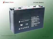 Long life solar gel deep cycle battery 2V1000Ah for home/factory use