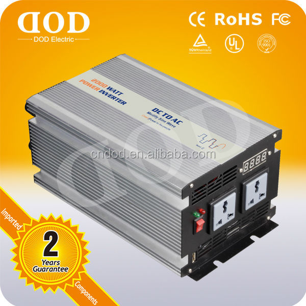 1500W True Sine Wave DC-AC Inverter with Solar Charger car power inverter battery