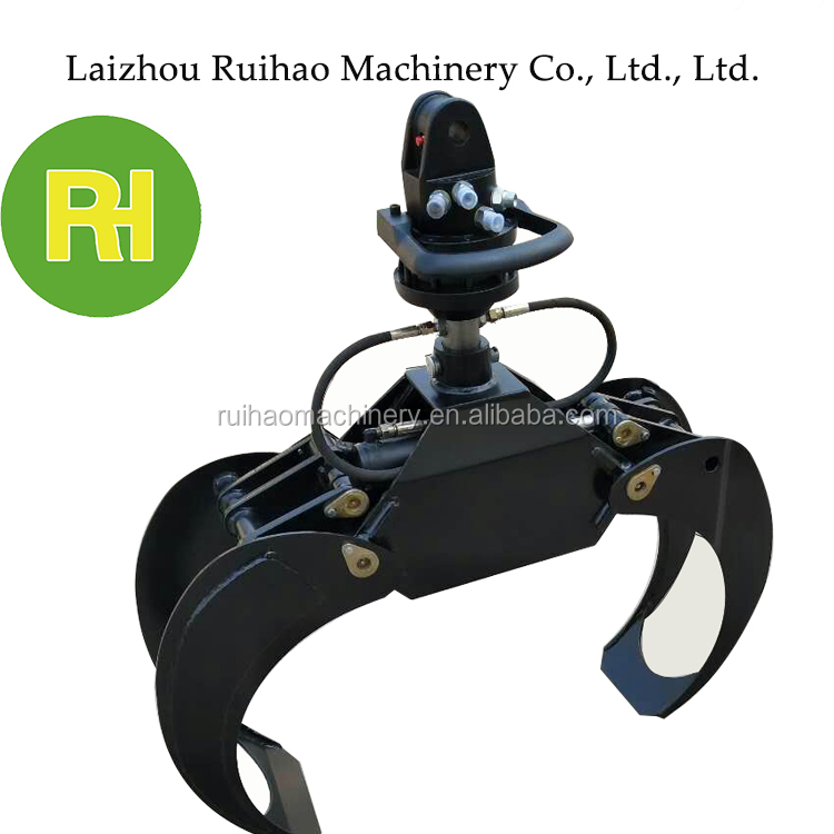 rotator hydraulic logging grapple for excavator used