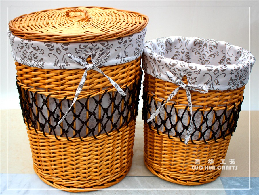 rattan and wicker laundry baskets