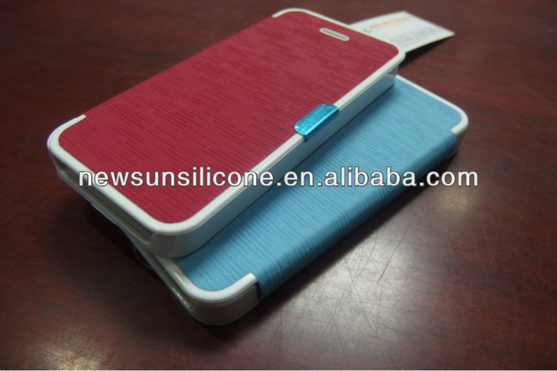 2013 new PC+leather case for iphone5