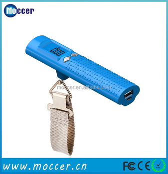 Best selling luggage scale 2600mAh portable power bank with led torch from Disney FAMA audit factory