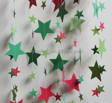 Colorful Star Shaped Party Decor Heart Shaped Wall Banner Decoration 3D Wedding Paper Garlands