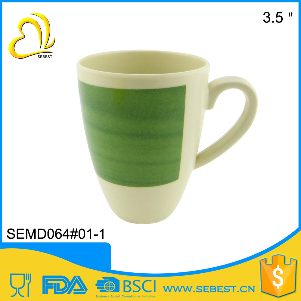 hot sale new products round hanle melamine plastic cup tea