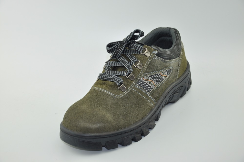 Cow Suede Leather CE S3 Steel toe cap men safety shoes