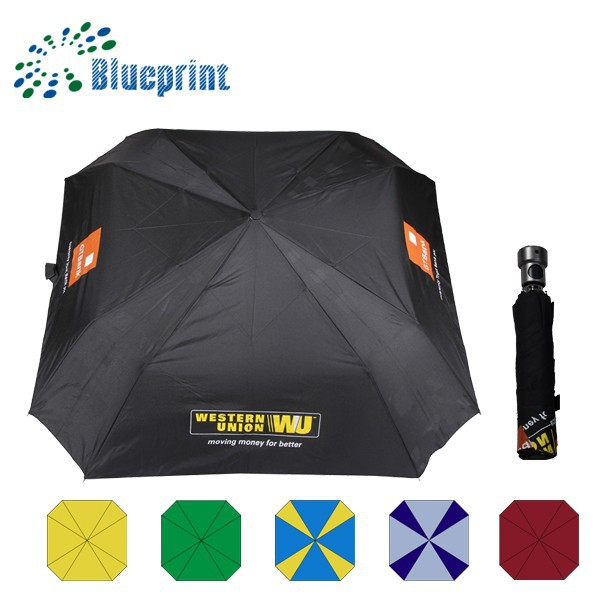 21 inch x 8k fashion design digital printed umbrella 3 fold windproof umbrella