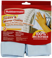 Rubbermaid FG6M0206 2-Pack Microfiber Glass Cleaning Cloth