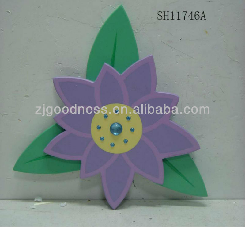 HOT SALE 11''H BEUTIFUL FLOWER WALL PLAQUE W/ARTIFICIAL STONE DECORATION