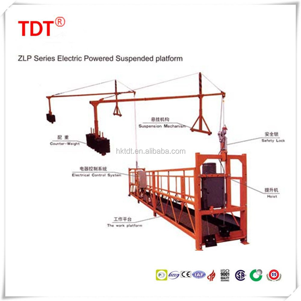 building construction tools ZLP500 suspended platform scaffolding