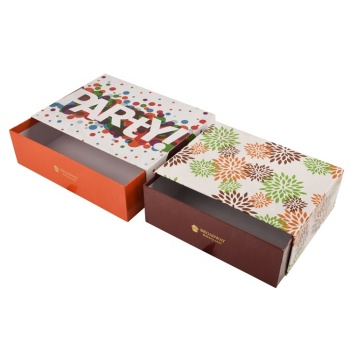 Cardboard sliding drawer packing lipstick eyelash gift box custom shoe chocolate candy sliding kraft paper rigid box