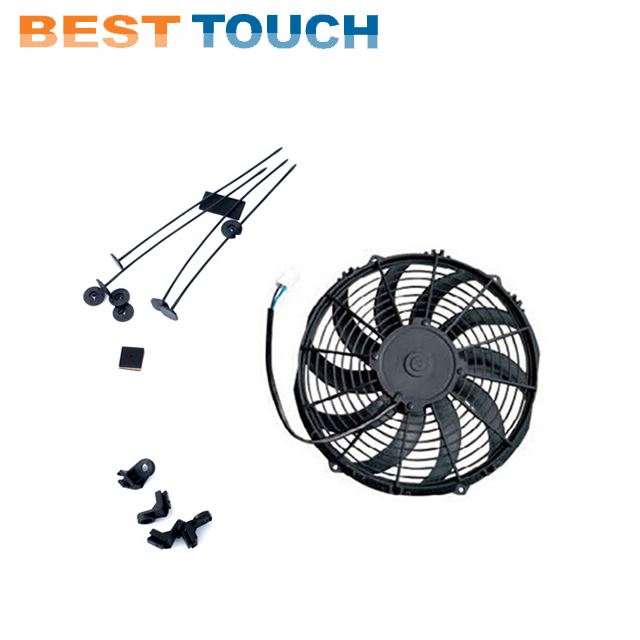 Customized 12V 24V 80w 120w 07'' 09'' <strong>10</strong>'' 12'' 14'' 16' inch auto a/<strong>c</strong> condenser fan motor for FORD