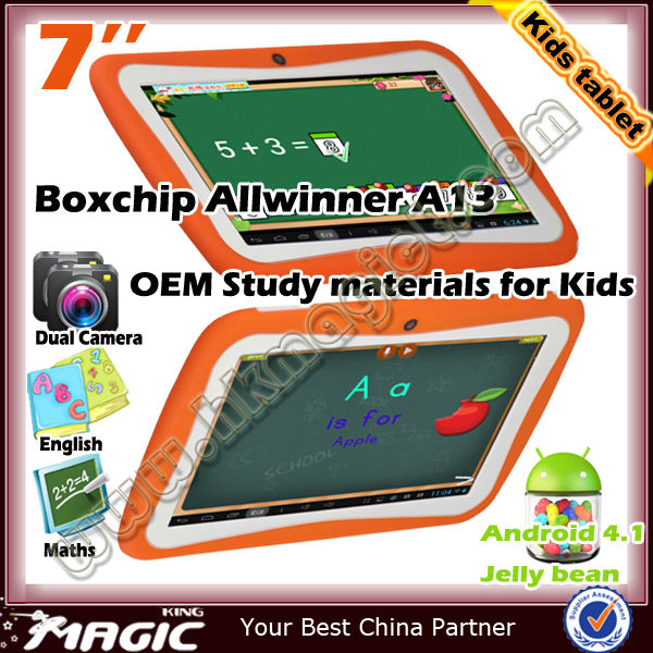 7 inch kids mini tablet children tablet toy