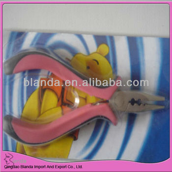 pink color plier for hair extension