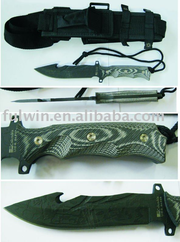 sharp Hunting knife with sheath