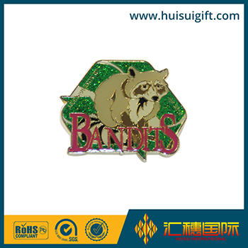 wholesale promotional fashionable enamel glitter softball lapel pin badges