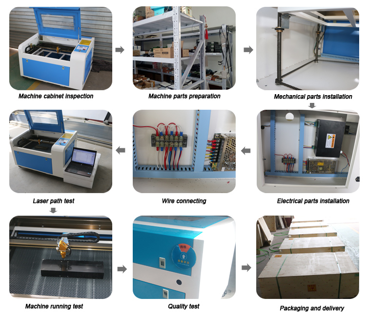 Low cost Co2 50w 6040 paper wedding card laser cutting machine price