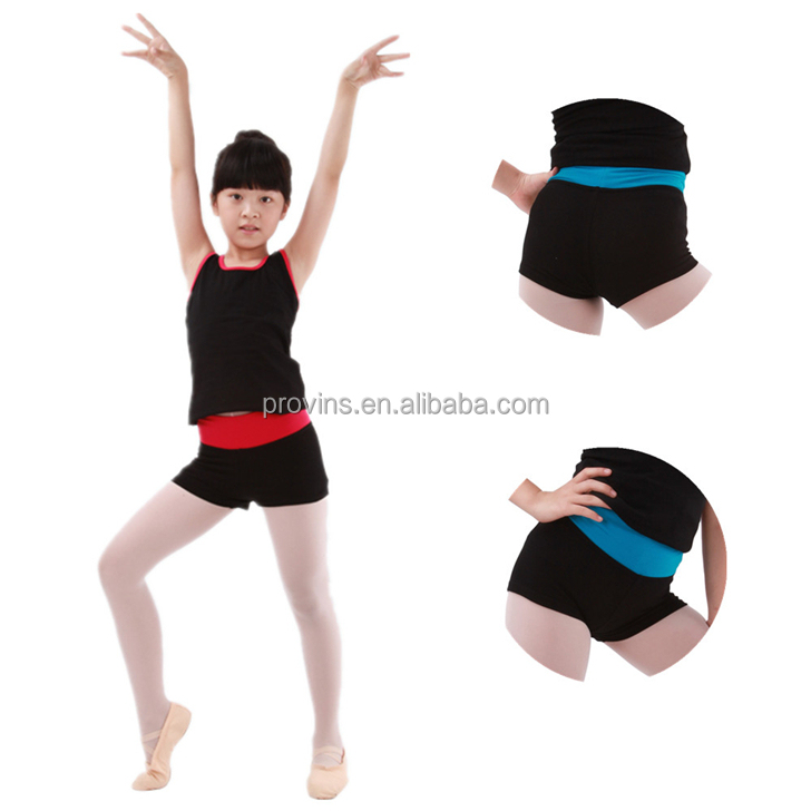 Fashionable Slim Legs Two Tone Shorts for Dance Yoga and Sports