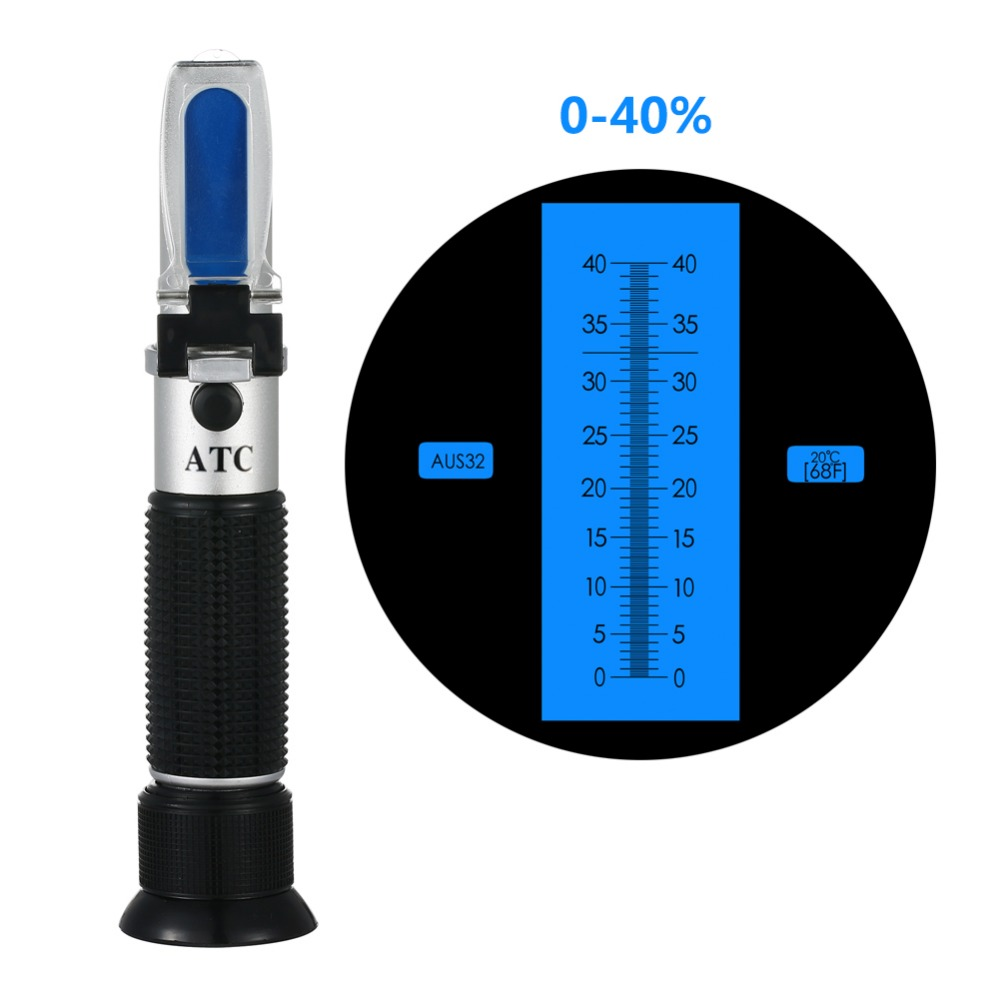 High Quality Car AD Blue Black Handle 0-40% AUS32 urea concentration refractometer comfortable non-slip rubber