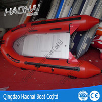 4.3m customized pvc inflatable fishing boat for agent