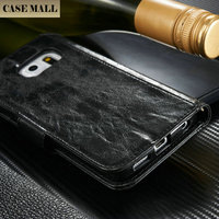 2015 Luxury mobile accessories for Samsung S6 Edge crack leather wallet case for Samsung S6 Edge