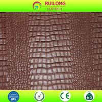 PVC crocodile leather, cheap price and good quality leather manufacturer
