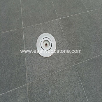 outdoor black stone paver