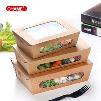 American style square kraft paper lunch box, hign quality safe food container