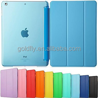 Ultra Slim Tri-Fold PU Leather with Crystal Hard Back Smart Stand Case Cover for <strong>iPad</strong> Air 2 for <strong>iPad</strong> Pro 9.7
