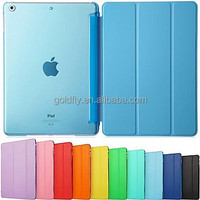 Ultra Slim Tri-Fold PU Leather with Crystal Hard Back Smart Stand Case Cover for iPad Air 2 for iPad Pro 9.7