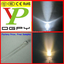Factory Price 3mm/5mm White/Warm White LEDs ( CE & RoHS Compliant )