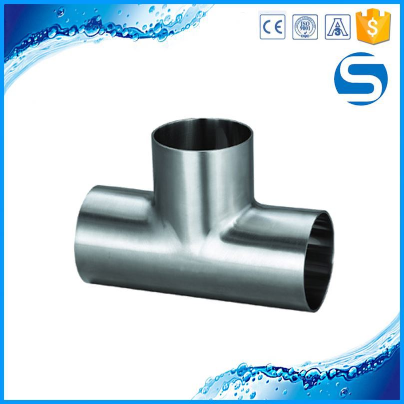 304 / 316L Reducing Sanitary Pipeline Stainless Steel Fitting Tee