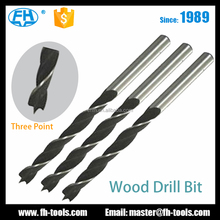 3 point C45 carbon steel three points wood drill bit for wood drilling