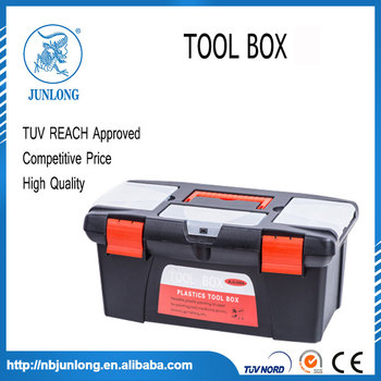 Heavy Duty Black Plastic 18 Inch Tools Box
