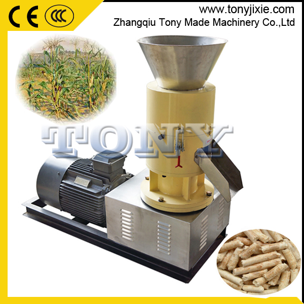 200-300kg/h small capacity biomass wood saw dust pellet press