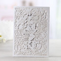 Hot Sale Wholesale Laser Cut Wedding Invitation Sleeves