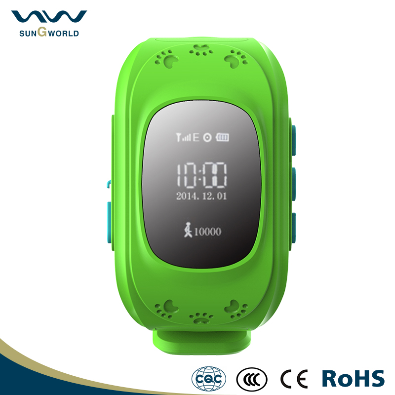GPS Locating 400mAh wrist watch gps tracking device for kids