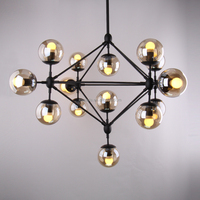 Modo Glass DNA Chandelier lights 10 heads
