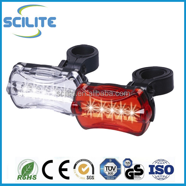 Ultra Brightness Bicycle led light set 5 LED Headlight 5 LED Taillight