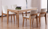 Modern Marble Table Top And Solis Wood Leg Dinner Table